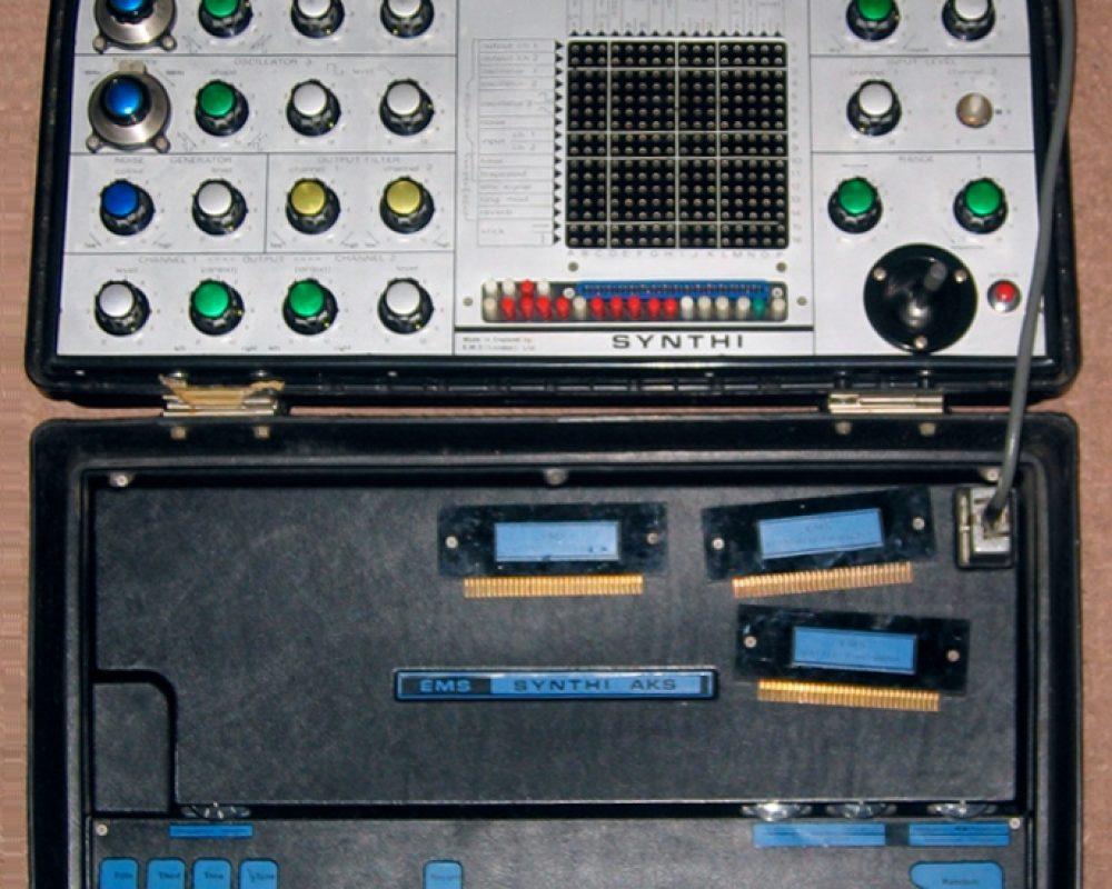 Breifcase model EMS Synthi AKS Synthesizer